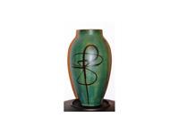 Zöld japán váza