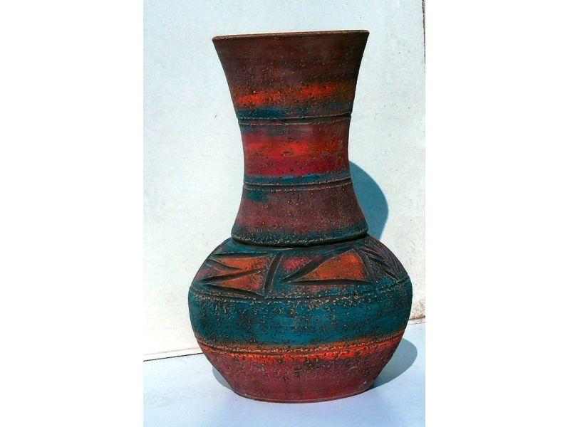 Hosszú nyakú indián váza :
