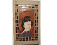 antik japán kerámia festmény