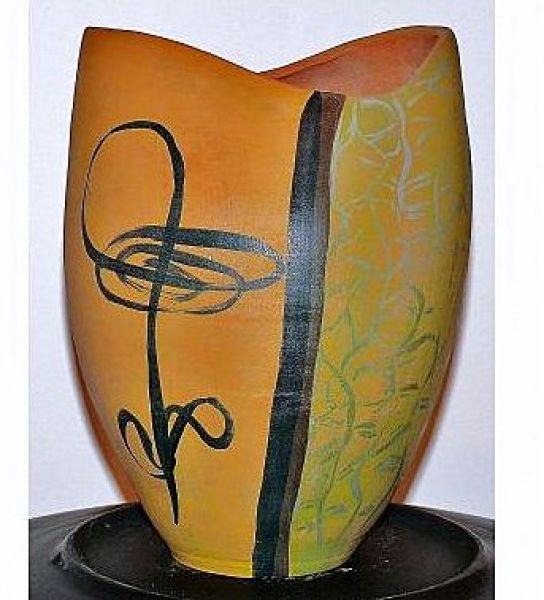 japán váza kézi festés :